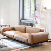 Einzelstück: Sofa 'Naviglio' in Leder