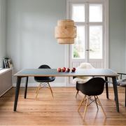 Tisch 'Plog' Linoleum mit Eichenkante
