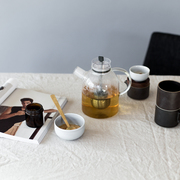 Nordischer Teekrug aus Glas