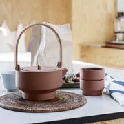 Japandi-Stil: Terrakotta-Teekanne
