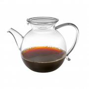 Glaskanne für den Tee