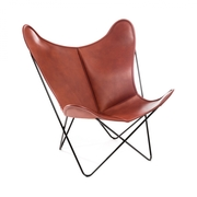 'Butterfly Chair' in Blankleder
