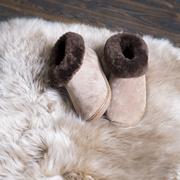 Weiche Lammfell-Schuhe 'Kreta' in Beige
