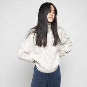 Rollkragen-Pullover mit Muster