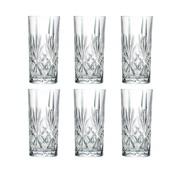 Hohe Kristallgläser für Cocktails