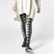 Weiche Leggings mit 'Swirl'-Print