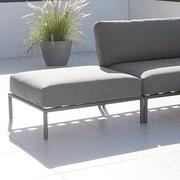 Houe loungeserie level gestell aluminium grau textilgewebe grau