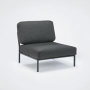 Houe loungesessel level gestell aluminium grau textilgewebe dunkelgrau