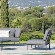 Houe lounge level gestell aluminium grau tisch edge