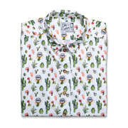Statement-Bluse mit Kaktusprint
