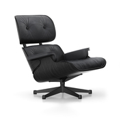 'Eames Lounge Chair' in Esche schwarz