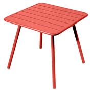 Luxembourg table 80x80 4 pieds capucine 20kopie