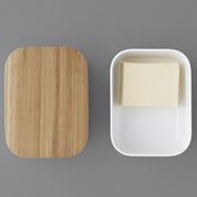 Schöne Butterdose mit Holzdeckel