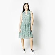 Luftiges Sommerkleid in Pastellgrün