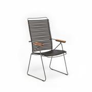 Einzelstücke: Stuhl 'Click' mit verstellbarer Lehne