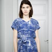 Langes Sommerkleid mit Print