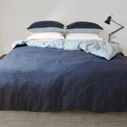 Zweifarbige Leinen-Bettwäsche 'Blended'