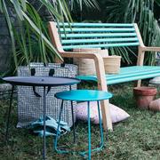 Banc jardin somerset alu teck bleu lagune cocotte fermob 2 e1520347249546