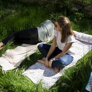 Outdoormatte mit Blüemli