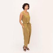Margaret beaumont organic modal jumpsuit in khaki 2