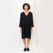 Penny beaumont organic lyocell jersey dress in black 1