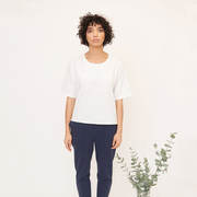Katie beaumont organic cotton top in white 1