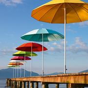 Einzelstück: Sonnenschirm in weiss - ø 300 cm