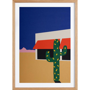 'Boutique with Cactus'-Kunstprint