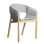 Raffinierter Sessel 'Roya' mit Polster