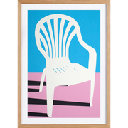 Kunstprint 'White Plastic Chair'