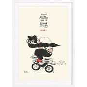 'Ziellos aber glücklich'- Kunstprint