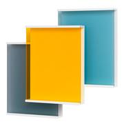 Covershow zeitschrifenregal grau gelb blau schoenbuch fr 7