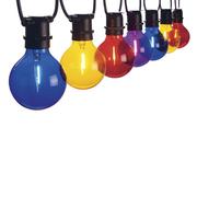 Farbige Lichterkette fürs Sommerfest