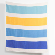 Cotton blankets throws striped artist cotton blankets throws by michele rondelli blue 1 1024x1024
