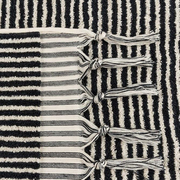 Handloom cotton towels black stripe handloom turkish towels pom pom 5 1024x1024