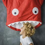 Haifisch-Sommerschlafsack für Kids