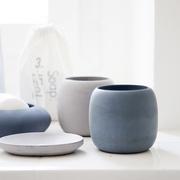 Beton-Behälter Set fürs Bad in Blau