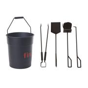 Seau accessoires cheminee fire tools enostudio design