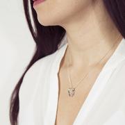Feine Halskette mit Twist-Anhänger