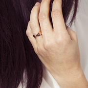Cooler Ring mit Twist
