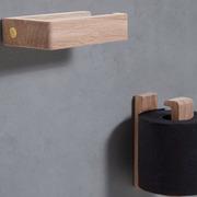 Toilettenpapierhalter aus Holz