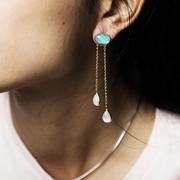 Schwingender Ohrring 'Ikaria'