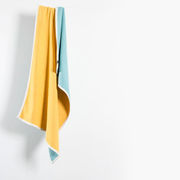 Beach towels mini blankets beached cotton beach towels mini blankets bondi yellow turquoise 3 1024x1024