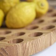 Früchteplatte 'Geo' aus Eiche