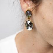 Ohrringe mit Abalone-Kristallen
