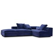 Sofa 'Bermuda' mit Chaiselongue