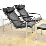 Pair of genni lounge chairs by gabriele mucchi for zanotta 1980s