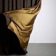 Zzz curtains matt velvet brown 02