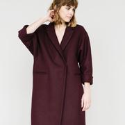 Burgunderfarbener Mantel von 'Elementy Wear'