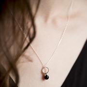 Zartschöne Halskette 'Flowerstone Onyx'